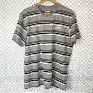 EUC Men's Staple Striped Short Sleeve Tee Shirt